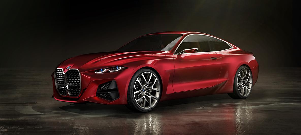 BMW 4 Concept Forbidden Red wygląd zewnętrzny przód